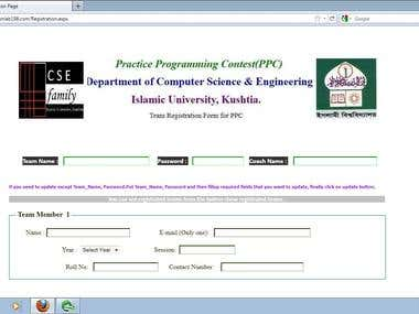 Registration of Programming Contest