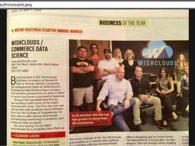 2014 H. Wayne Huizenga Startup of the Year Award
