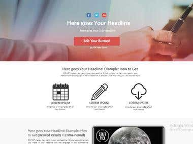 LANDING PAGES FOR YOU CLICKBANK OR JVZOO PRODUCT