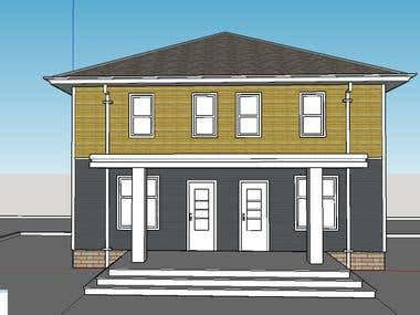 Google sketchup modeling of house