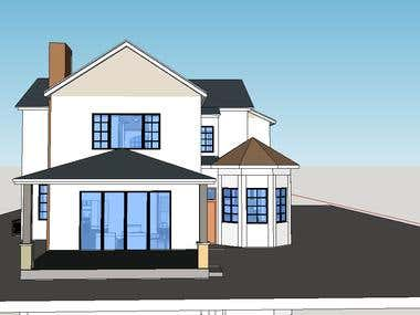 Google sketchup modeling of house projects