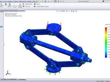stress analysis in SolidWorks