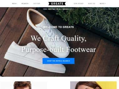 Greats Shopify Website