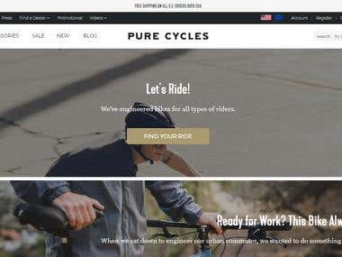 Pure Cycles Shopify Store