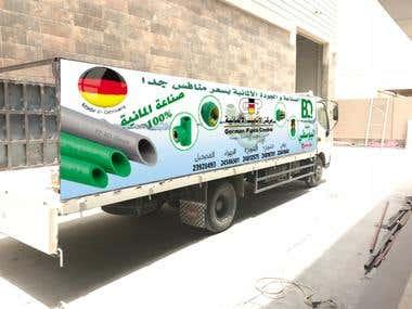 banner design for truck