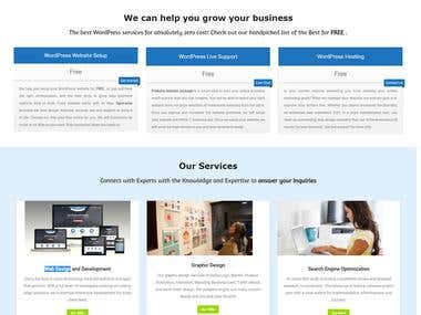 Web development agency website