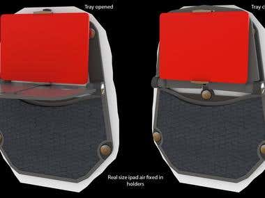 Tesla Model S / Seat Accessory - Product Design