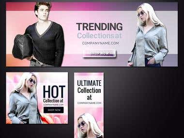 Winning Entry (Fashion website banner)