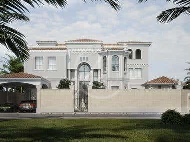Mediterranean Arabic House Design