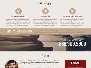 Law Office ~ Ralph ~ Wordpress ~ PHP Backend ~ SEO