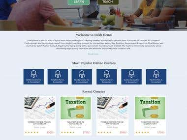 Dekh Demo Education Website