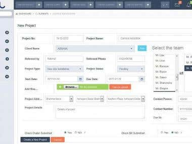 Add a project management system