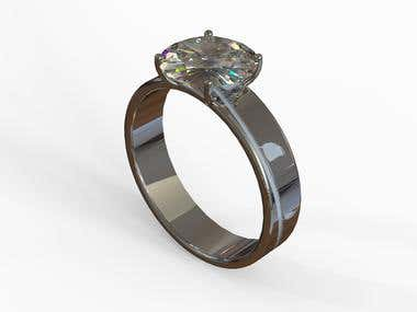 modeling of diamond ring