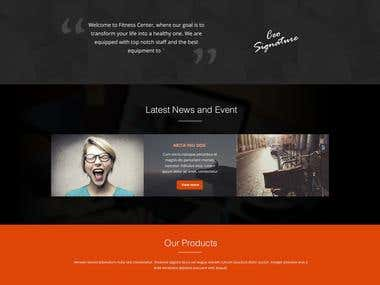 Only design (mobile responsive 1 page)