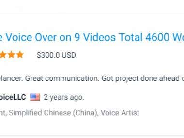 Chinese Voice Over Project