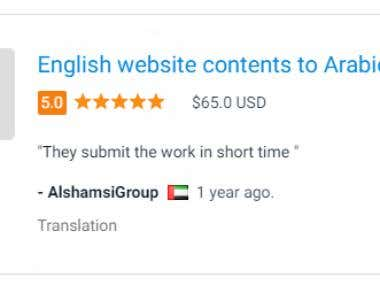 English Website Translation into Arabic Project