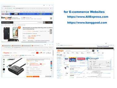 web search and export to excel and database