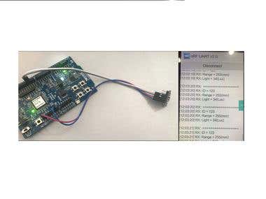 Firmware for I2C sensor with nRF52832 and VL53L0X