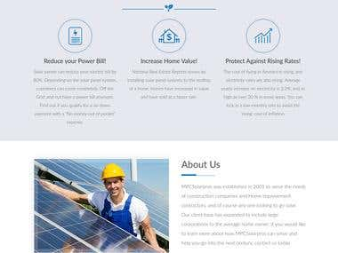 Client Website - Solar