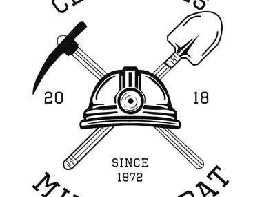 "logo designed for ""mines Rabat"" club"