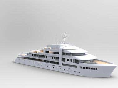 Yatch modeling and render