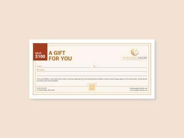 Gift Certificate Design (Image resolution is not good.)