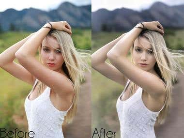 Image editing / Image processing / Photo Retouching