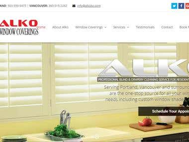 WordPress website for blind cleaning services company