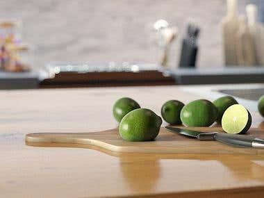 Kitchen interior / Architectural Visualization /