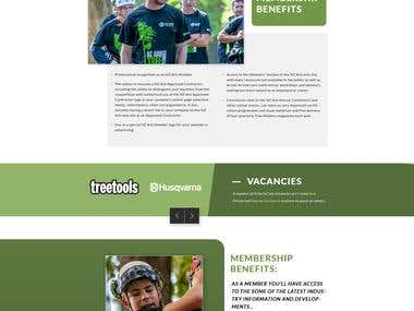Creative website for nzarb