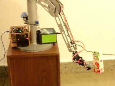 robotic arm 6DOF using arduino ,ROS & raspberry pi