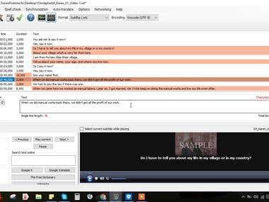 Teaching Subtitle Program (subtitle - edit)