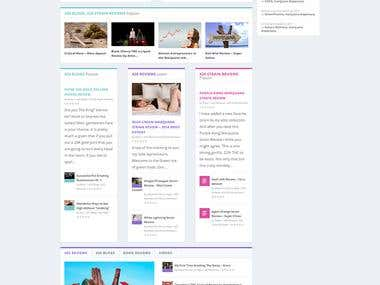 Wordpress blog site by using Divi builder.