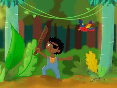 digital children's illustrations