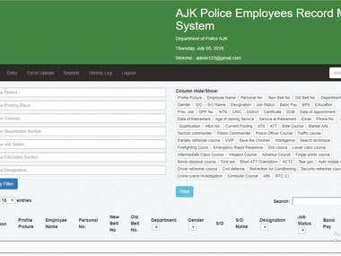 AJK Police - Record Management System