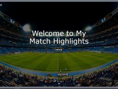 My Match Highlights Website