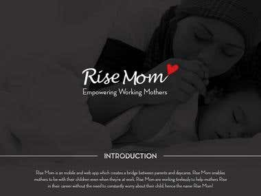 Rise Mom Complete Branding Mockup Presentation