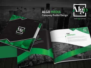 Algo Media Company Profile Presentation Mockup