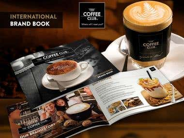 The Coffee Club International Brand Book Presentation Mockup