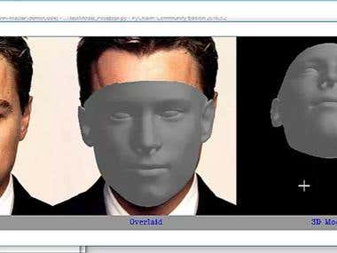 Face 3D system.