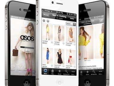 clothing shopping App list
