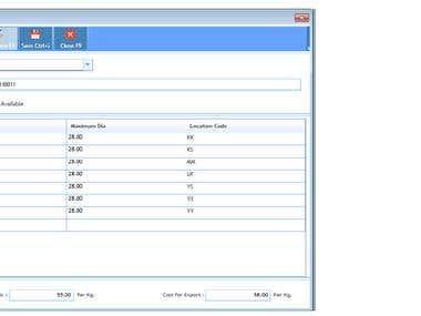 Sample Xaml screen