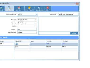 Sample xaml screens with data grid