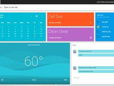 AngularJS Dashboard Backend & Fronted Dev