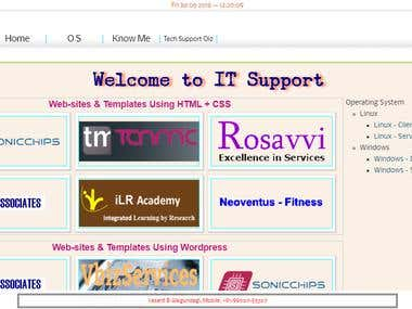 My Own TechSupport Site With HTML5 & CSS