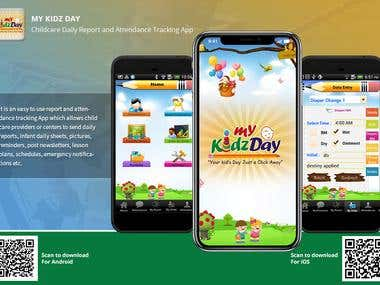 My Kidz Day: Children daily report & attendance tracking App