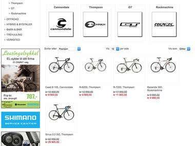 sykkelsenter - website development