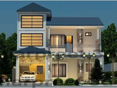 exterior 3d elevations