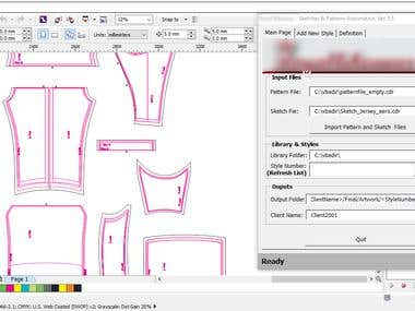 Automation of bikewear design based on pattern and sketch