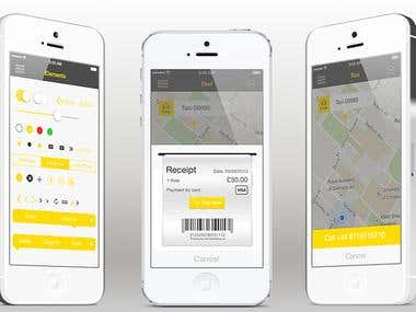Hello World Taxi App for iPhone